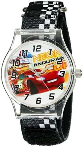 Disney Kids' W001709 Cars Analog Black Watch