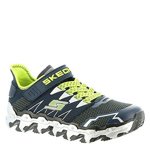 (Skechers 97562L Boy's Mega Flex: Mega Blade Lite Shoes, Navy/Lime -)