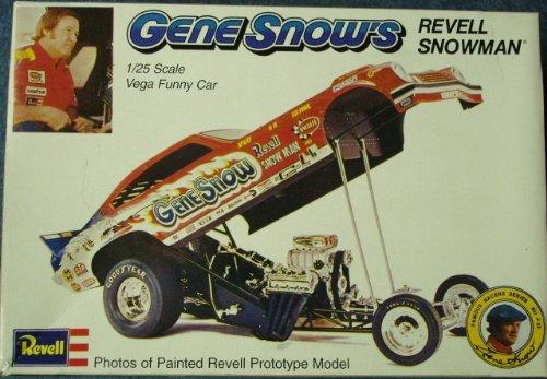 #1459 Gene Snow's Revell Snowman Vega Funny Car 1/25 Scale Plastic model Kit,Needs Assembly