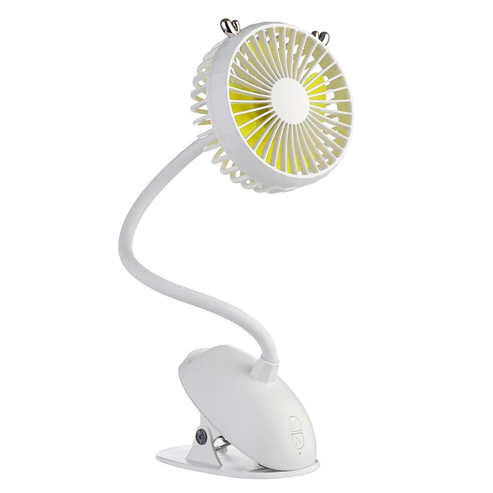 Baovery USB Portable Clip-on Stroller Fan 3 Speeds Settings Flexible Bendable Mini Desk Electric Fans