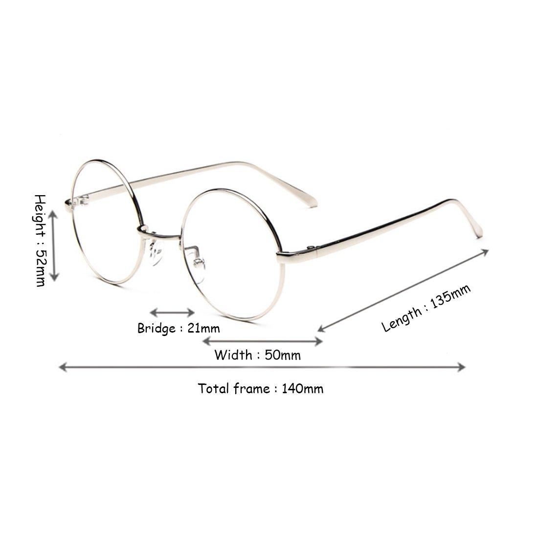 46cd34bd0b Yefree Femme Mâle Verres pour la myopie Lunettes rondes Cadre lunettes  fines Cadre rétro: Amazon.fr: Vêtements et accessoires