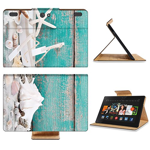 Amazon Kindle Fire HDX 8.9 Flip Case 2012 Model Wooden backgrond in turquoise for a concept for travel oder holiday 22775256 by Liili Customized Premium Deluxe Pu Leather generation Accessories HD Wifi 16gb 32gb Luxury Protector Case