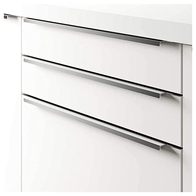 pack 2-795 mm IKEA BLANKETT aluminium Poign/ée