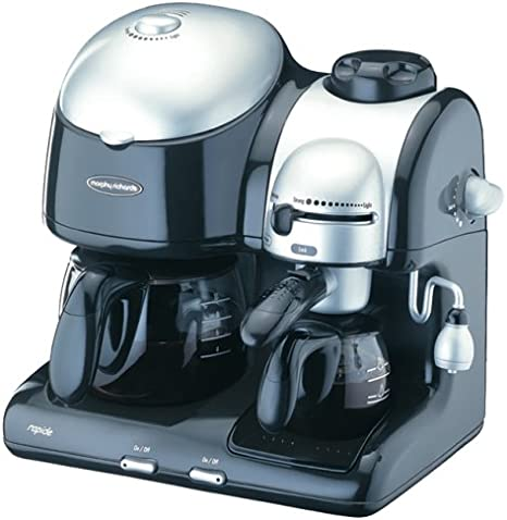 1.8 liters Steel 900 W Morphy Richardds Coffee Overflow Machine from Morphy Richards Prism-White 163001