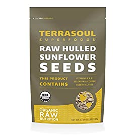 Terrasoul Superfoods Domestic Hulled Sunflower Seeds (Organic) 27 Terrasoul Superfoods Hulled Sunflower Seeds (Organic), 2 Pounds USDA Certified Organic, Non-GMO, Raw, Gluten-Free, Vegan Our raw, unsalted, hulled organic sunflower seeds are grown on organic farms.