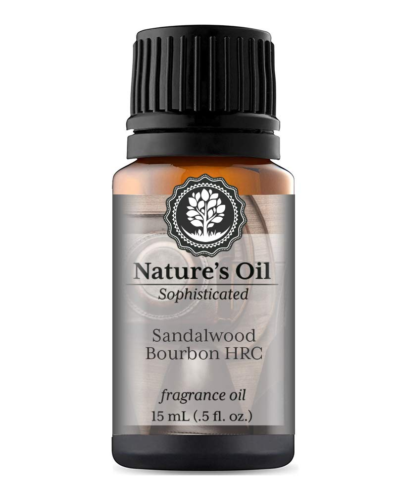 Sandalwood Bourbon HRC Fragrance Oil (15ml) For Cologne, Beard Oil, Diffusers, Soap Making, Candles, Lotion, Home Scents, Linen Spray, Bath Bombs