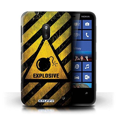 Kobalt® Imprimé Etui / Coque pour Nokia Lumia 620 / Explosif conception / Série Signes de Danger