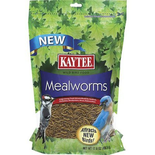 Kaytee DKxHNW Dried Mealworms for Chickens and Wild Birds, 17.6 Ounce (3 Pack)