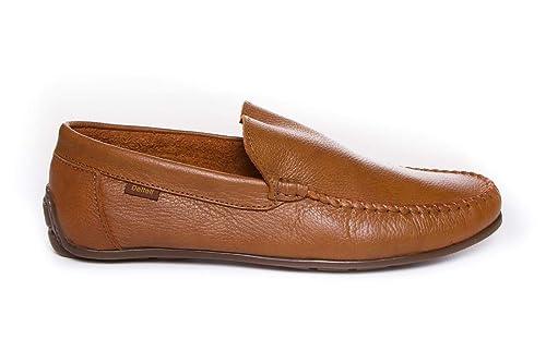 Zapato Kiowa cómodo de Piel - Deltell 19960 Marrón: Amazon.es ...