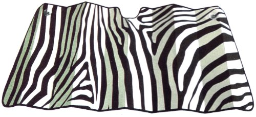 LA Auto Gear Zebra Animal Print Safari Stripes Car Windshield Sunshade - Large Jumbo Size