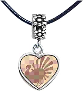 Chicforest Silver Plated Thanksgiving turkey display Photo Flower Head Dangle Heart Charm Beads Fits Pandora Charm