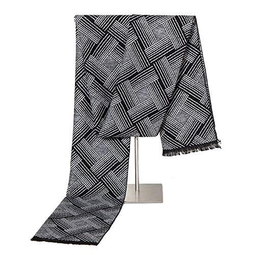 Mezcla de lana de punto for hombres bufanda flácida rápida ...