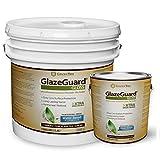 GlazeGuard Gloss Floor Sealer Wall Sealer for Ceramic, Porcelain, Stone Tile Surfaces (4 Gal - Prof Grade (2) Part Kit)