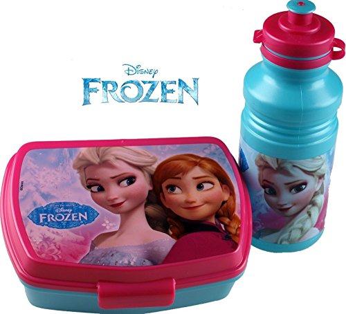 Disney Lunch Frozen Kids Sandwichbox & Saft Sportgrill Wasser Trinkflasche für für Schule