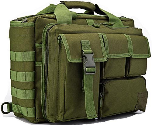 TACVASEN Bag Woodland Shoulder Military Green Outdoor CP Molle Laptop Men's 15