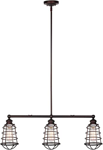 Design House 519785 Ajax 3 Light Pendant, Bronze