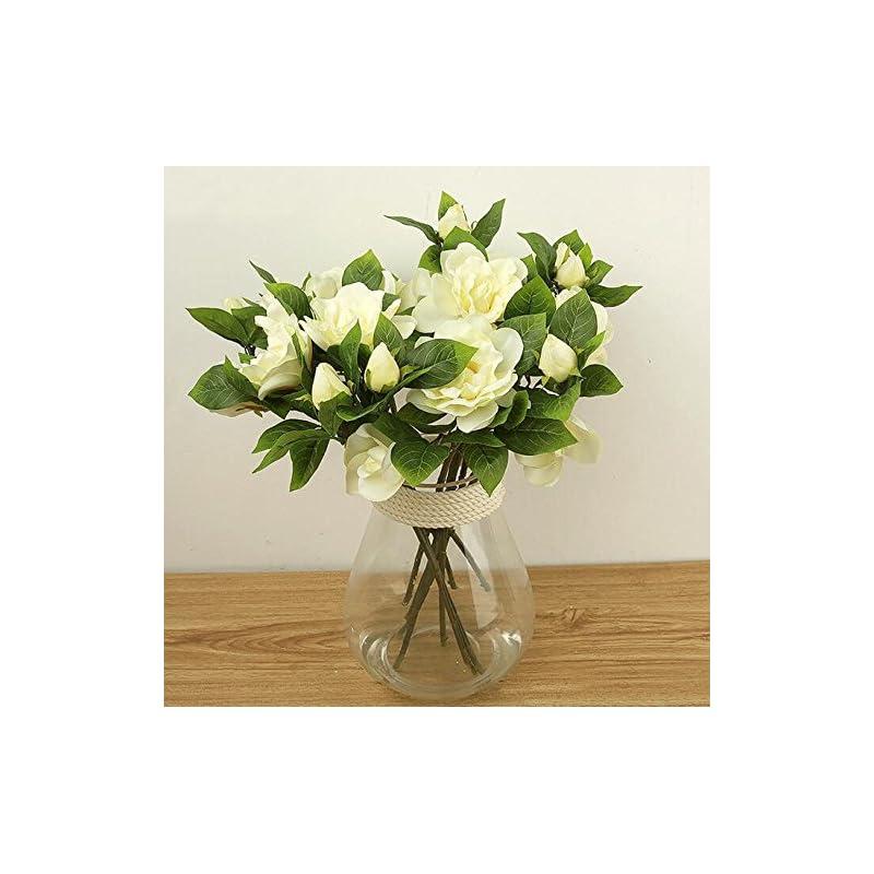 silk flower arrangements ainest 3x silk wedding flower white latex gardenia flowers real touch artificial heads main color:white