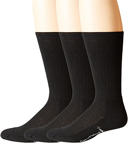 Smartwool Men's New Classic Rib 3-Pair Pack Black Large Classic Rib Dress Sock