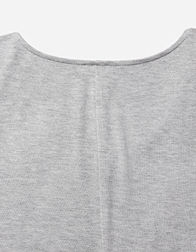 Long Ritual Jersey Sleeve V Light Women's Neck Heather Grey Daily Dress Bgx1qAB