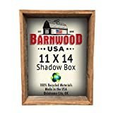 "BarnwoodUSA | Rustic Farmhouse Collectible Shadow Box Picture Frame | Made of 100% Reclaimed and Recycled Wood | Shadow Box Style to Display Collectibles, Photos, Antiques | Made in USA | 11""x14"""