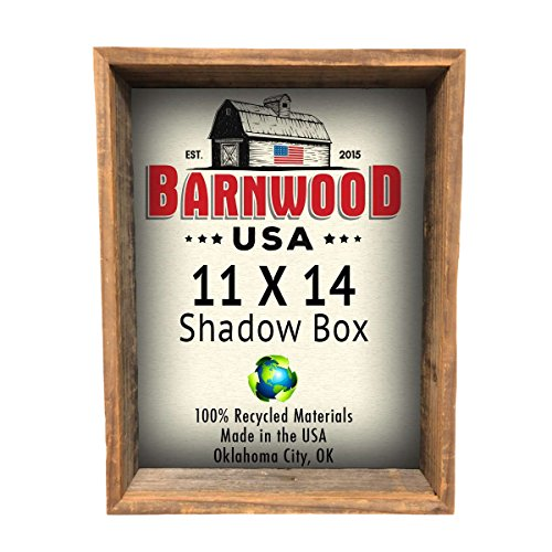 BarnwoodUSA-Rustic-Farmhouse-Collectible-Shadow-Box-Picture-Frame-Made-of-100-Reclaimed-and-Recycled-Wood-Shadow-Box-Style-to-Display-Collectibles-Photos-Antiques-Made-in-USA-11×14