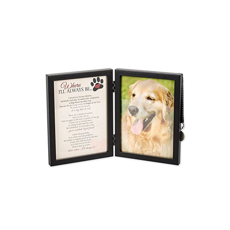 dog supplies online where i'll always be dog memorial 5x7 picture frame with pet tag