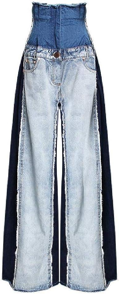 Moda Mujer Jeans 2020 Primavera Nueva Wild Casual Jeans De Cintura Alta Mujer Pantalones De Pierna Ancha Mujeres Color Solido Europa Jeans Amazon Es Ropa Y Accesorios
