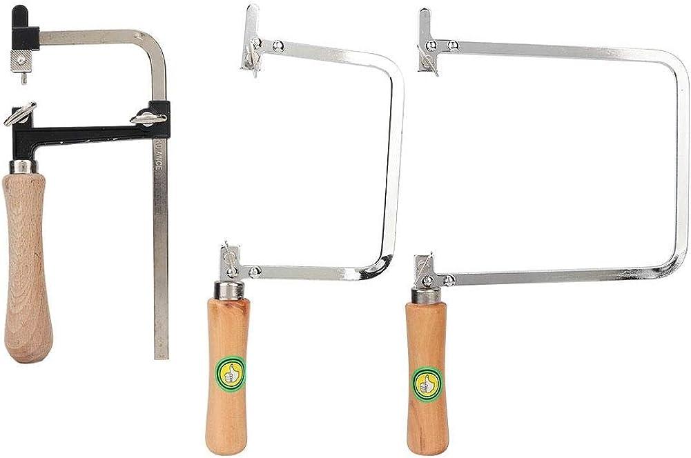 TMISHION 3 Unids/Set Joyeros Sawbow Saw Frame, Sierra de Arco portátil en Forma de U Sierra de Arco Marco de Sierra para Metales Herramientas de Mano DIY Sawbows para joyería Craft