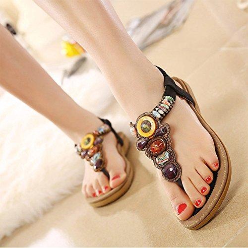 Zicac - Zapatos con tacón mujer negro