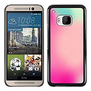 Plastic Shell Protective Case Cover    HTC One M9    Watercolor Focus Pink Blue @XPTECH