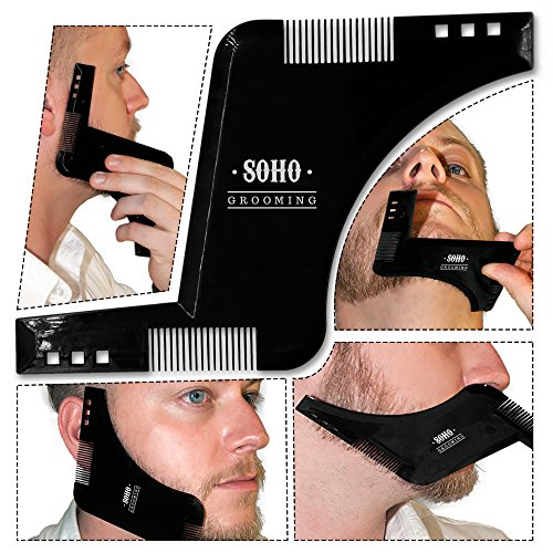 Price comparison product image Beard Shaping Tool w/ Beard Shaping Booklet Guide & Brand New PREMIUM Packaging - Shape your beard to perfection with the advanced Soho Grooming Shaping tool - Limited stock!