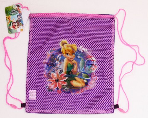Wholesale Lot 12 Pieces Disney TINKERBELL Sling Bags Tote Net Front Birthday Party Favors – SOLD IN 12 PIECES, Bags Central
