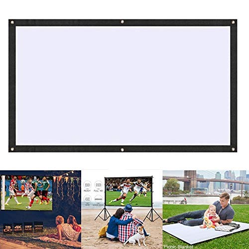 foulon Portable Folding Movie Screen Household Wall-Mounted Projection Screen Projection Screens from foulon