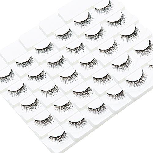 Wleec Beauty Fake Eyelashes Long Cross False Eyelashes #3...