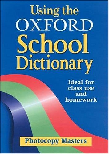 Download Using the Oxford School Dictionary pdf epub