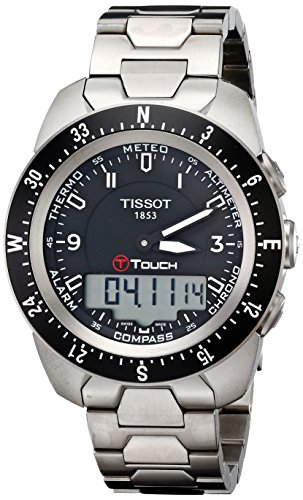 Tissot Men's T0134204405700 T-Touch Expert Pilot Black Touch Analog-Digital Dial ()