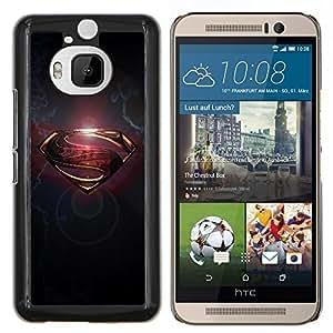 YiPhone /// Prima de resorte delgada de la cubierta del caso de Shell Armor - Regístrate S Oro Gris Metal cepillado - HTC One M9Plus M9+ M9 Plus