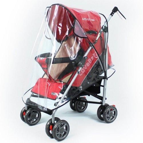 Foxnovo 3pcs Universal Baby Pushchair Stroller Pram Buggy Transparent Rainproof Covers Rain Shades