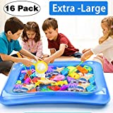 [2018 NEW] Kids Bath Toy Magnetic Fishing Game Fishing Floating Squirts Toys Set 16 Pcs Floating Fishing Game with Two Magnetic Rods One Fishing Net for Boys Girls Summer Pool Outdoors Travel School