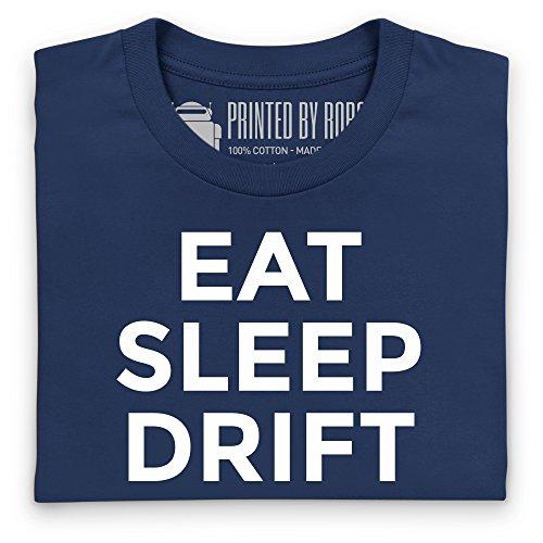 Eat Sleep Drift Repeat Camiseta, Para mujer Azul marino
