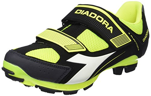 Diadora X Phantom Ii - Zapatillas de ciclismo Unisex adulto Negro - Schwarz (black/yellow fluo8071)