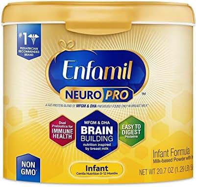 Enfamil NeuroPro Infant Formula - Brain Building Nutrition Inspired by Breast Milk - Reusable Powder Tub, 20.7 oz