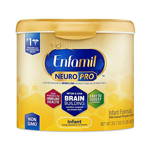 Enfamil NeuroPro Infant Formula - Brain Building Nutrition Inspired by Breast Milk - Reusable Powder Tub, 20.7 oz (Best Formula For Gassy Constipated Babies)