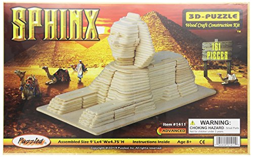 (Puzzled, Inc. 3D Natural Wood Puzzle - Sphinx)