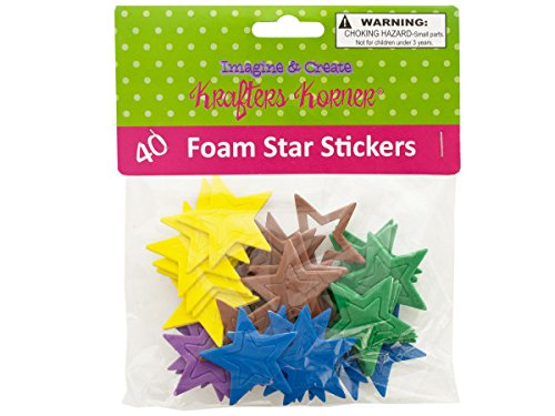 krafters korner Foam Star Stickers - Pack of 24