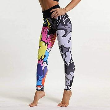WZXY Impresión Divertida Harajuku Pantalones de Yoga Cintura ...
