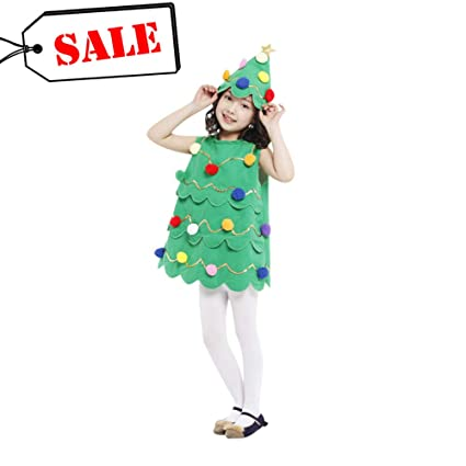HWG-GAOYZ Costume Natalizio per Bambini Albero di Natale Ragazze  Principessa Gonna Playful Babbo Natale 801d1337e6f
