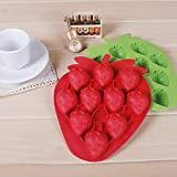 1 X Strawberry Mold Silicone Mold Cake Tools Cookie Cutter Ice Molds Cake Mould Bakeware Tools