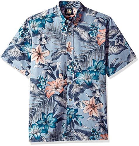 Reyn Spooner Men's Classic Fit Hawaiian Shirt, Uluwehi - Denim, XXL