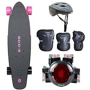 Amazon.com : Yuneec EGO2CRUS003 EGO 2 Electric Skateboard  Hot Pink w\/ Safe Skater Bundle